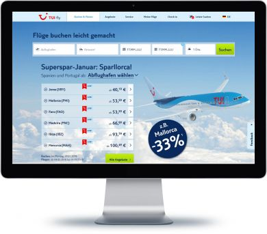 TUI fly Onlineshop